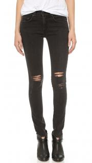 Rag and Bone Skinny Jeans in black with holes
