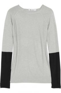 T BY ALEXANDER WANG Color-block knitted sweater