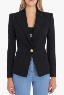 Balmain single-button wool blazer