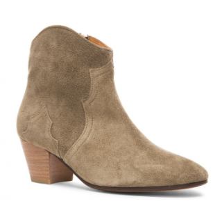 Isabel Marant Dicker Calfskin Velvet Leather Boots