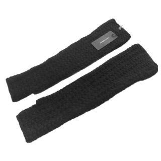 Dolce & Gabbana black cashmere long fingerless gloves