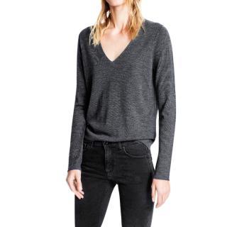 Zadig & Voltaire Grey Merino Wool Jumper