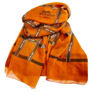 Hermes Limited Edition 'Faubourg Saint-Honore' Silk Shawl