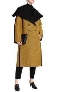 Pringle of Scotland Mustard Double Breasted Wool Coat