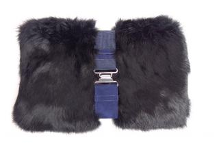 THEORY Rabbit Fur Zahara Clutch
