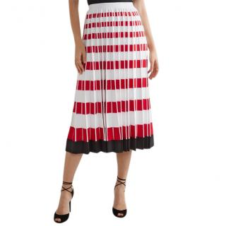 Fendi striped runway skirt
