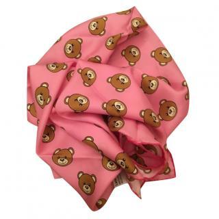 Moschino silk teddy scarf