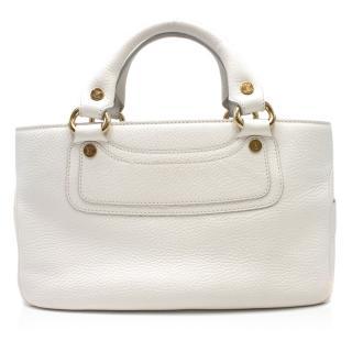 Celine White Leather Boogie Bag