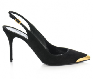 Alexander Mcqueen Capped-Toe Suede Slingback Pumps