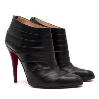 Christian Louboutin Orniron Pleated Leather Booties