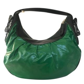 Gucci Emerald and Black Hobo Bag