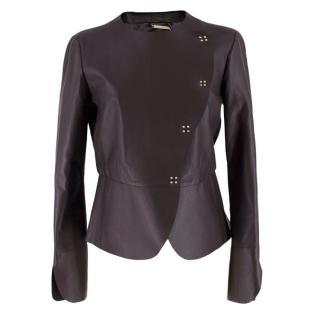 Giorgio Armani Brown Soft Leather Jacket