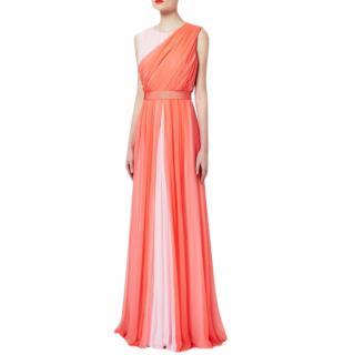 Max Mara Draped Silk Gown
