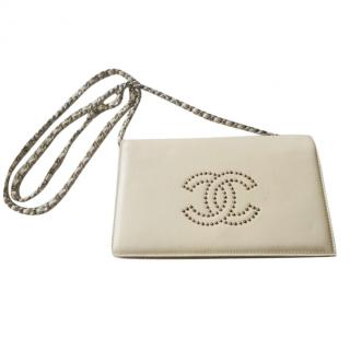 Chanel WOC with studded CC logo