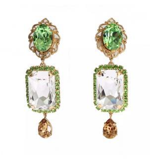 Dolce & Gabbana Swarovksi Crystal Clip-on Earrings