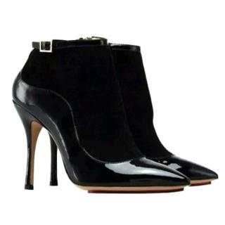 Charlotte Olympia Patent & Suede Ankle Boots