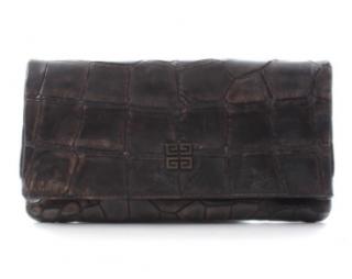 Givenchy Crocodile Leather Clutch Bag