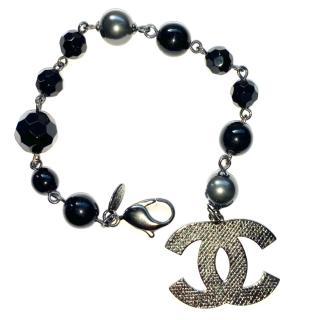 Chanel Beaded CC Charm Bracelet