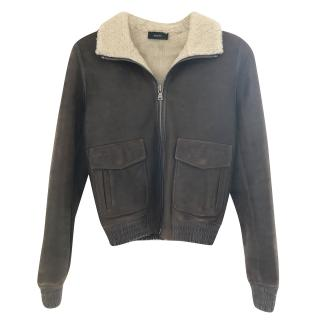 Joseph brown leather jacket