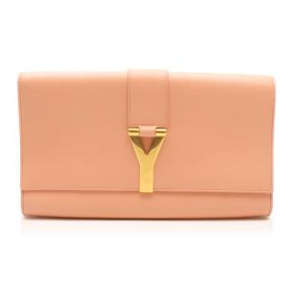 Saint Laurent Peach Ligne Y Clutch Bag