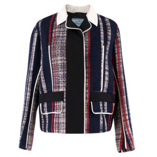 Prada Striped Tweed Jacket