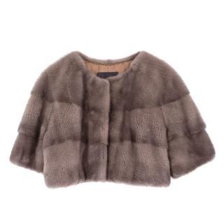 Lilly E Violetta Sarah Mini Mink Fur Jacket