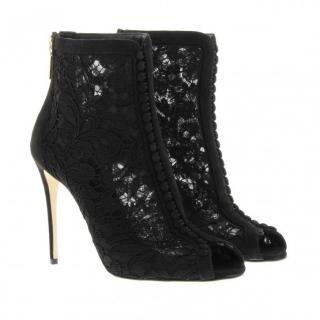 Dolce & Gabbana suede & lace boots