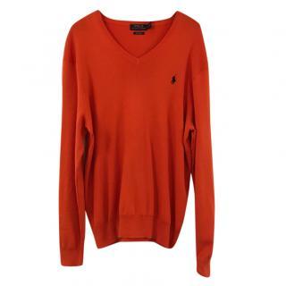 Polo Ralph Lauren men's orange knit jumper