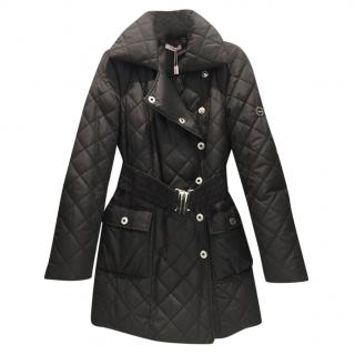 Blumarine Black Down Quilted Coat