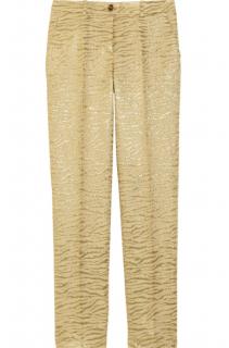 Michael Kors gold brocade pants