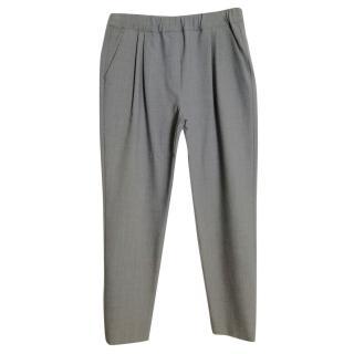 MSGM Wool Blend Grey Pants