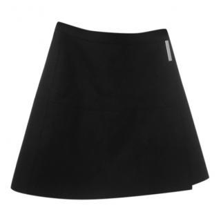 Victoria Beckham black wrap skirt, size 8
