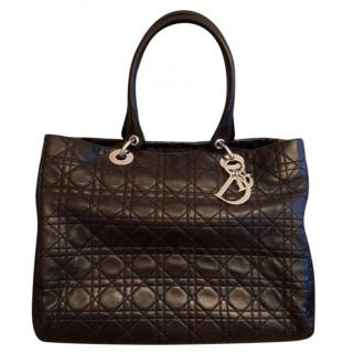 Christian Dior Black Cannage Leather Tote Bag