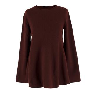The Row Burgundy Knit Jumper