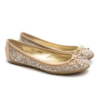 Jimmy Choo Diamante Ballet Flats