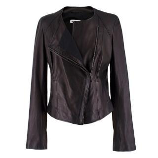 Jil Sander Black Leather Jacket