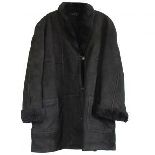 Oscar De La Renta Leather Shearling Jacket