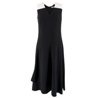Tome Monochrome Asymmetric Midi Dress