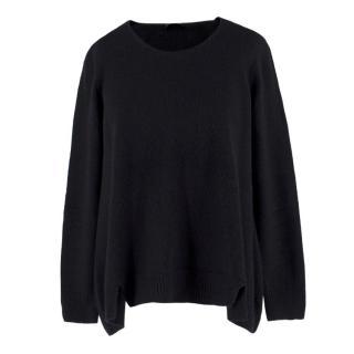 The Row Black Wool Jumper