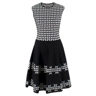 Alexander McQueen Black and White Geometric Dress