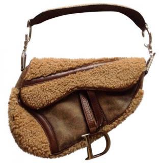 Dior Vintage Shearling Saddle Bag