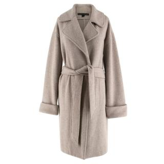 Ralph Lauren Grey Wool & Angora-blend Belted Coat