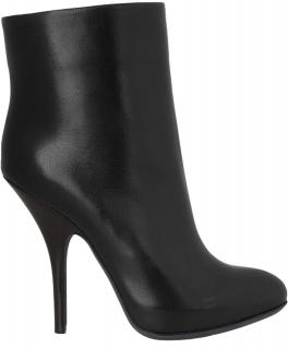 Lanvin Stiletto Black Ankle Boots