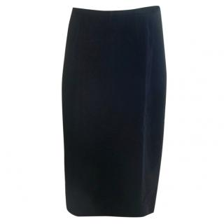 Guy Laroche Black Velvet Skirt