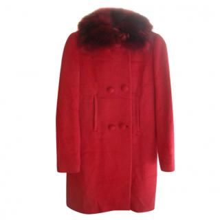 Twin-Set Simona Barbieri Fox Collar Coat