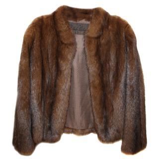 Real Sable Fur Bespoke Bomber Jacket