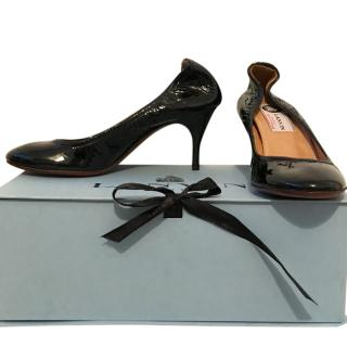 Lanvin Elasticated Patent Leather Pumps