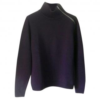 The Kooples Navy Elbow Patch Jumper