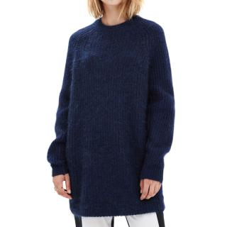 Acne Studios Davina Blue Knit Jumper
