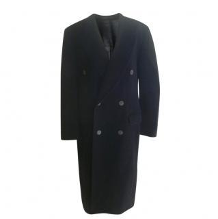 Yves Saint Laurent Wool Cashmere Blend Coat